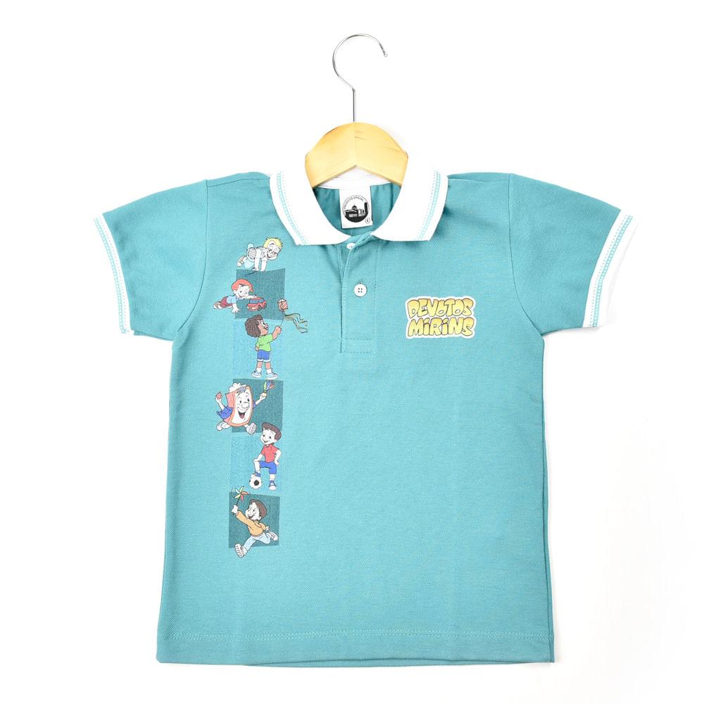 Camiseta Polo Verde  d65362fc04c17