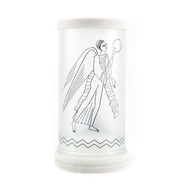 Porta-velas-Anjo-negro